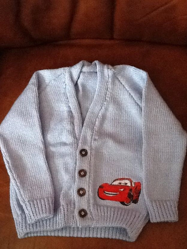 Lightning McQueen applique design on jacket embroidered