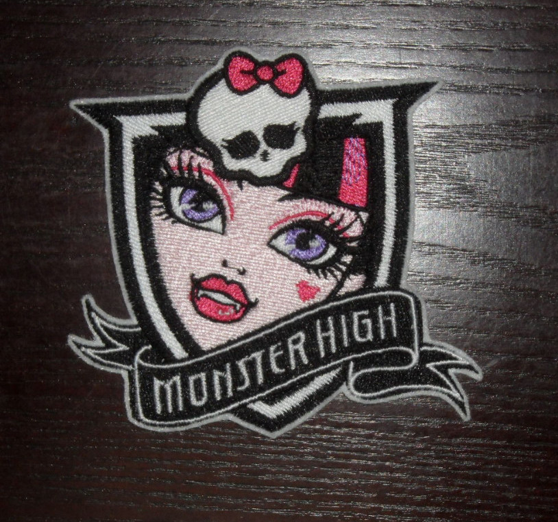 Monster High Draculaura design embroidered
