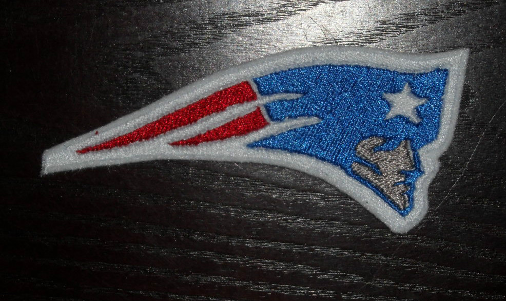 New England Patriots logo design embroidered