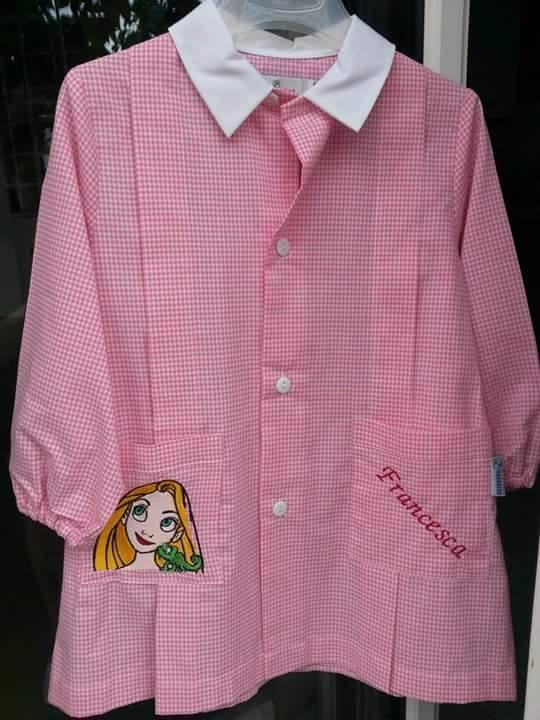 Rapunzel and Chameleon design on embroidered shirt