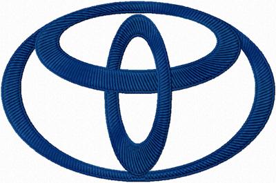 cba9a7b5abbc41 Toyota Logo machine embroidery design ...