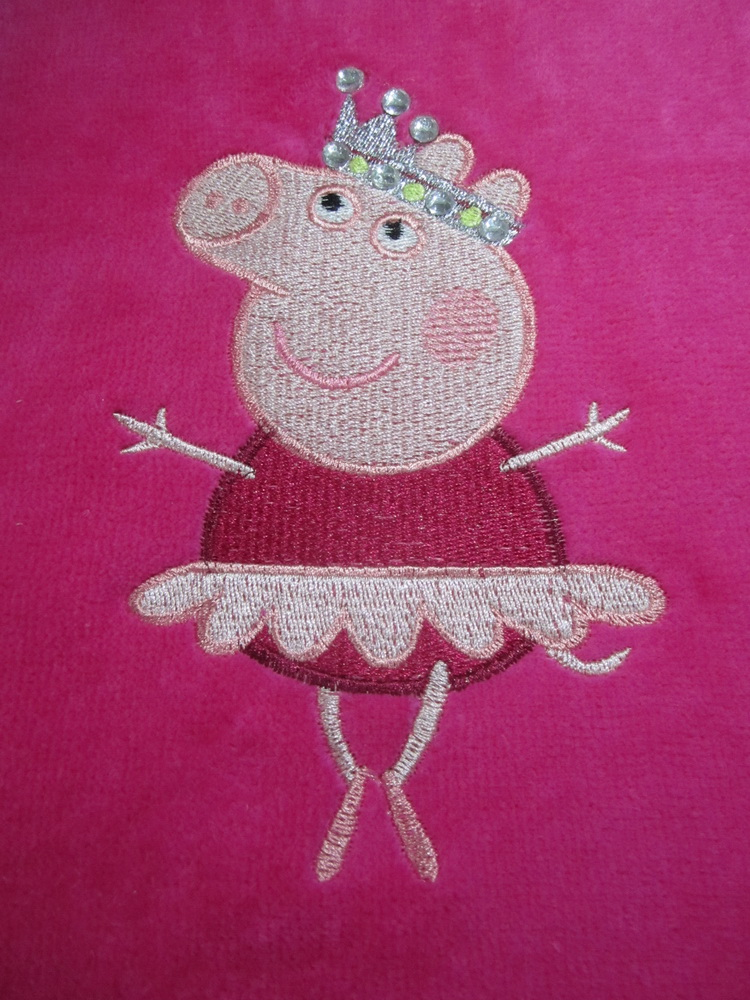 Peppa pig ballerina design on towel 2