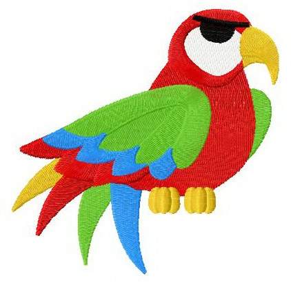 Parrot 2 machine embroidery design