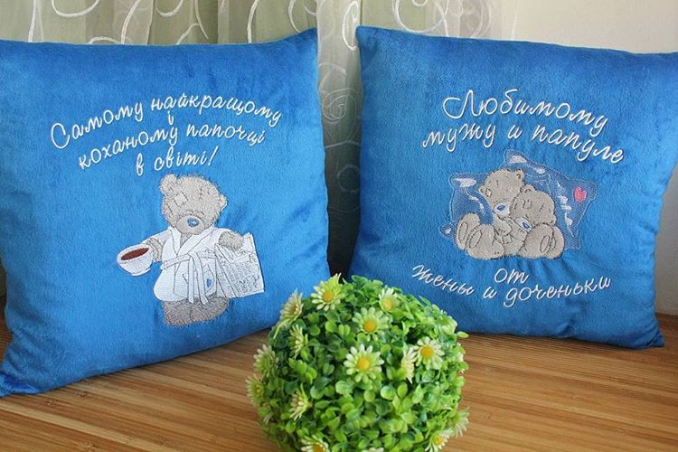Tatty teddy designs on embroidered pillowcases