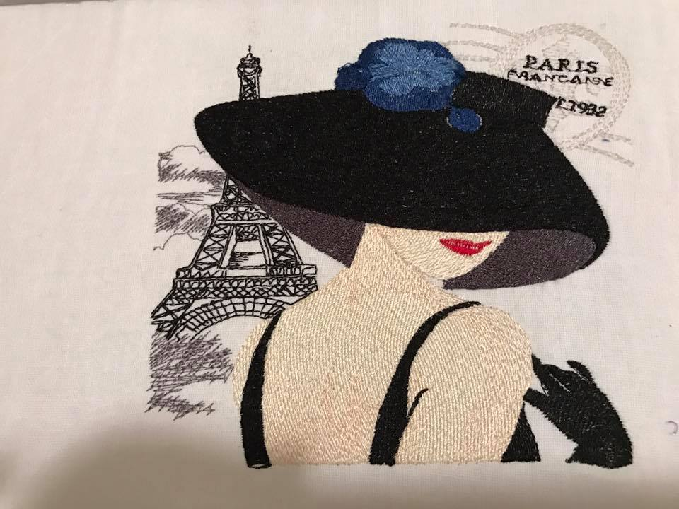 French coquette embroidery design