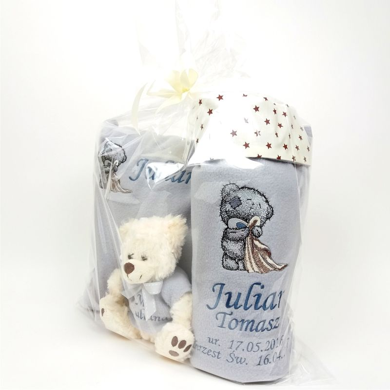 Gift set with Teddy bear embroidery design