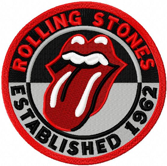 Rolling Stones logo machine embroidery design