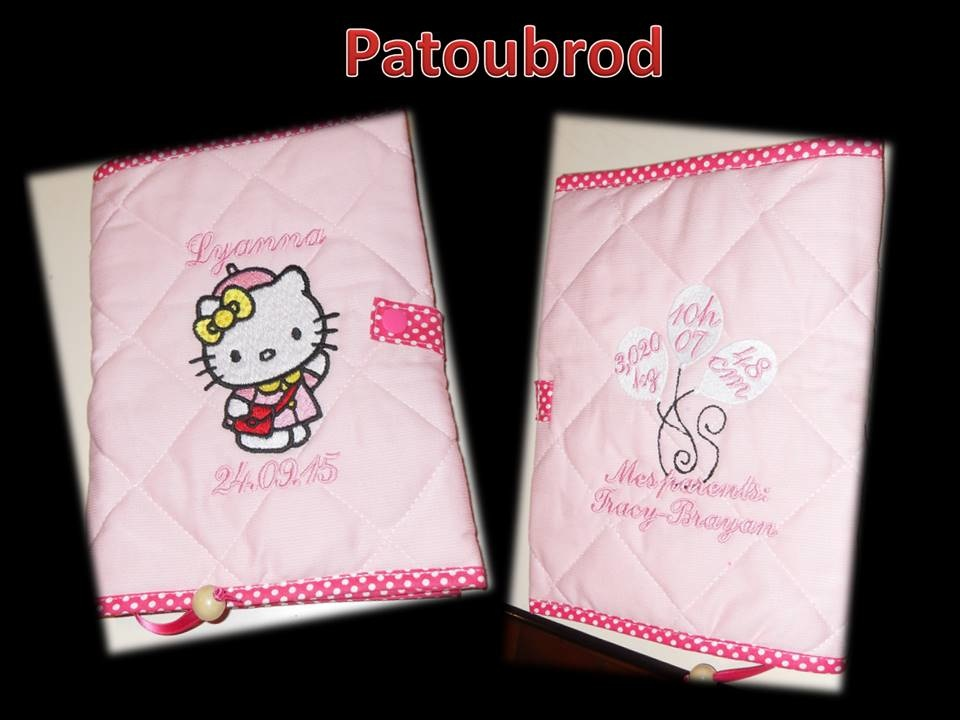 Embroidered Hello Kitty Weekend Style design on cover