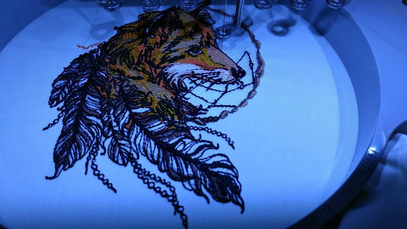 in hoop fox dreamcatcher embroidery