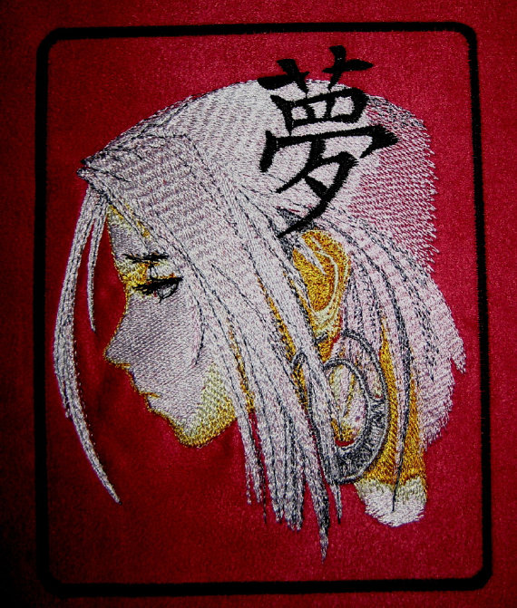 Anime design embroidered