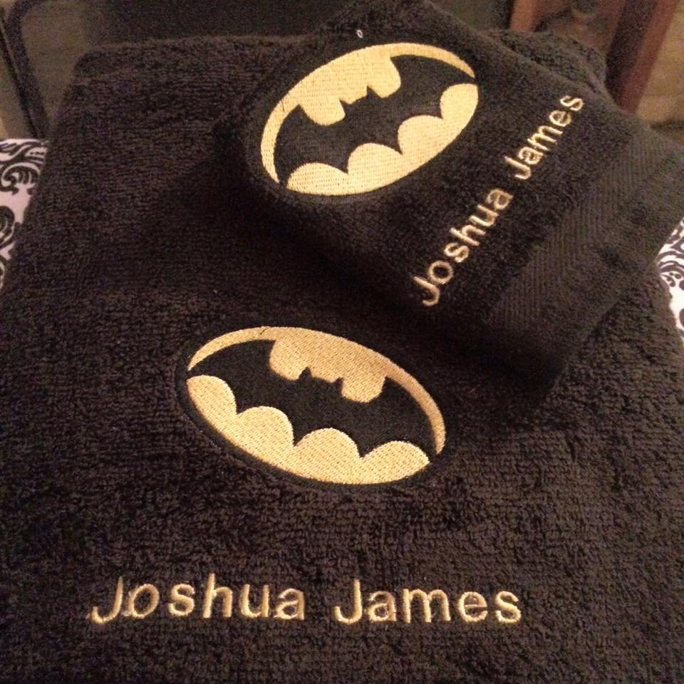 Batman logo design on towel8