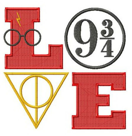 Love Harry Potter embroidery design