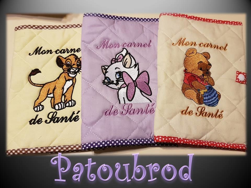 Embroidered covers with Disney designs