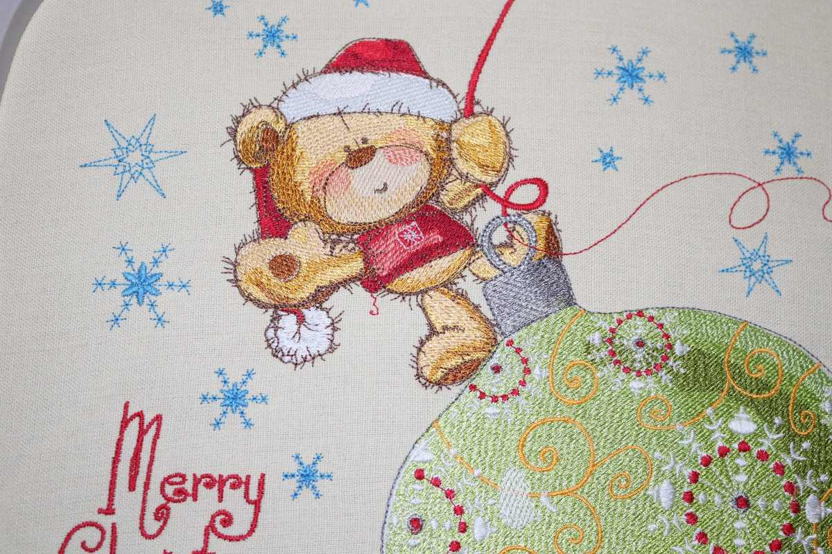 Merry Christmas embroidered design
