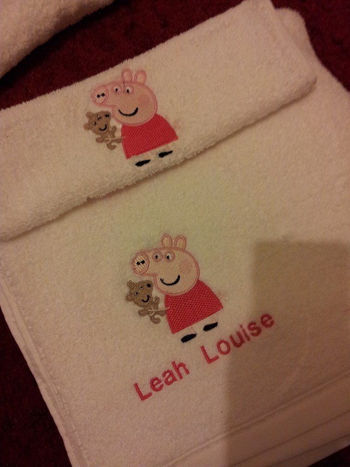 Peppa Pig with toy design on towel2