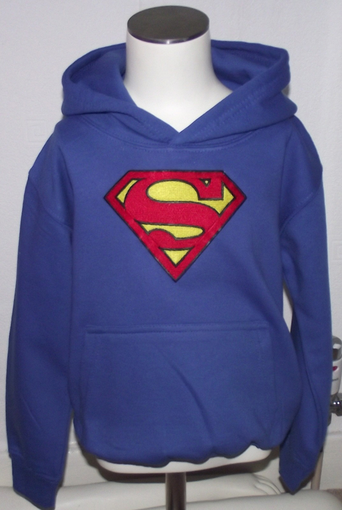 Jacket with Superman logo machine embroidery design