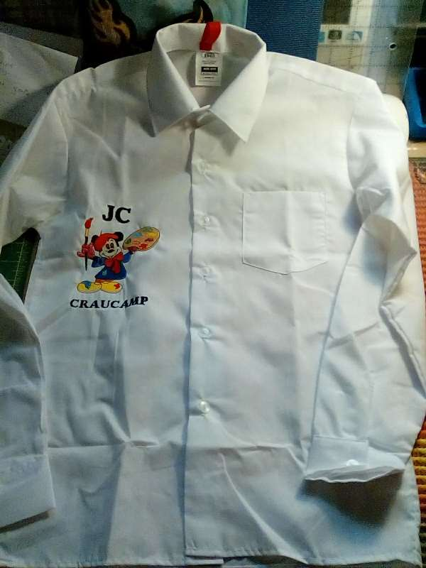 Shirt with Mickey Mouse painter embroidery design