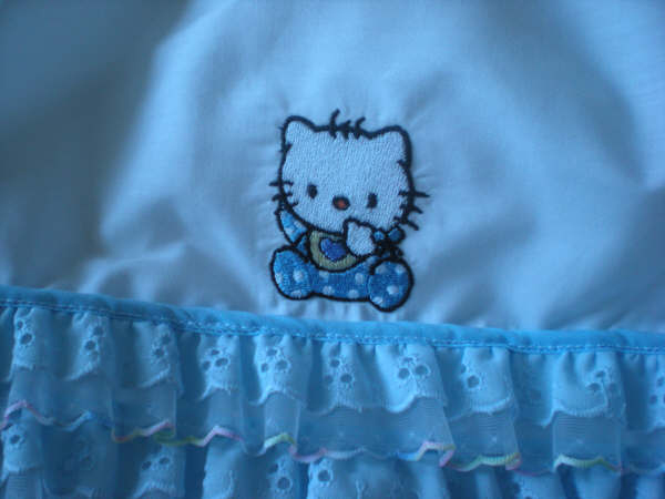 Hello kitty embroidered