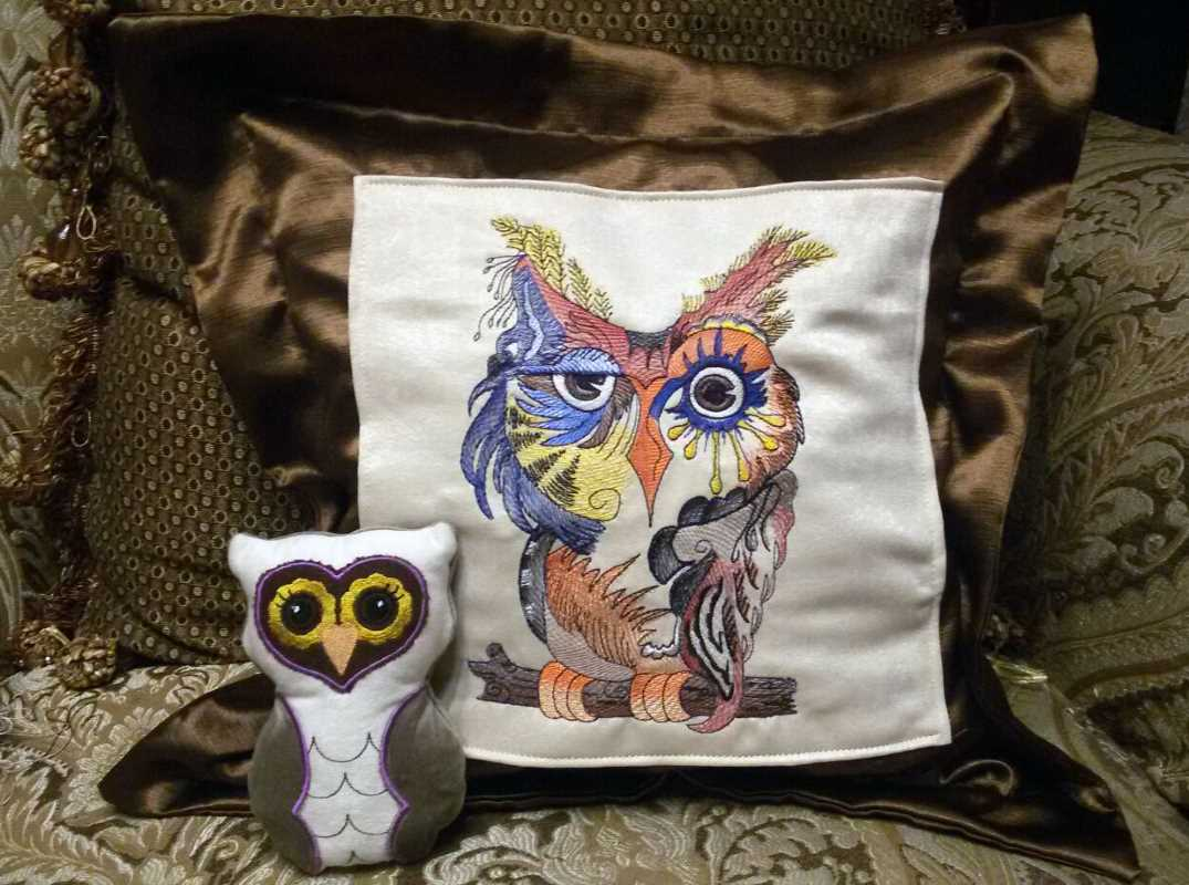 Home decoration with embroidery design