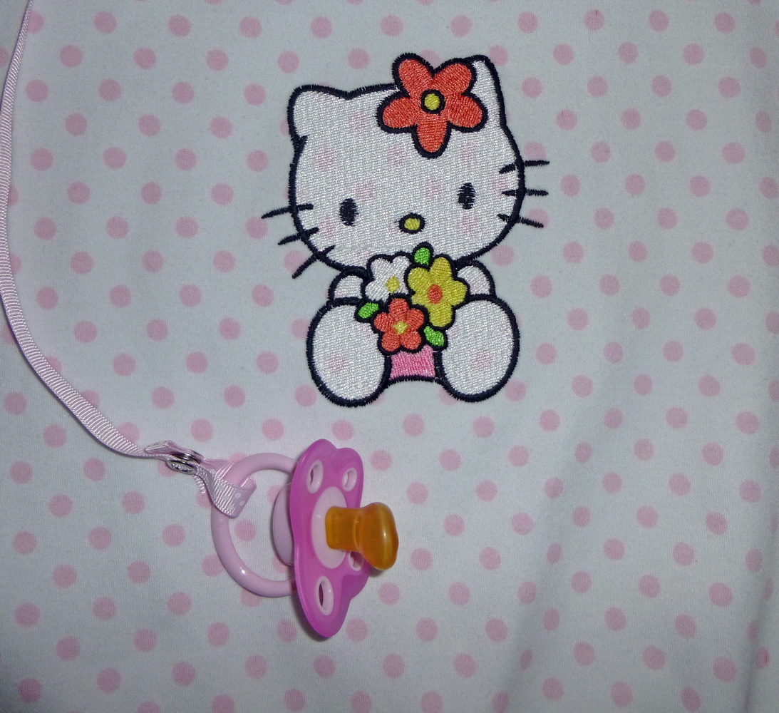 Embroidred Hello Kitty design