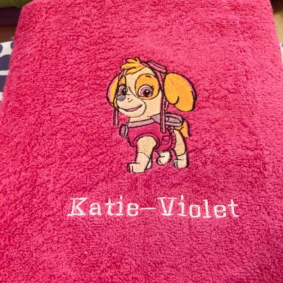 Skye design on towel1