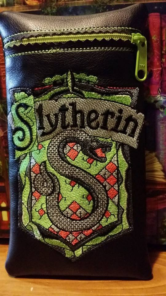 Slytherin emblem design on bag embroidered