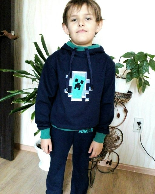 Minecraft Creeper in your door design on hoodie embroidered