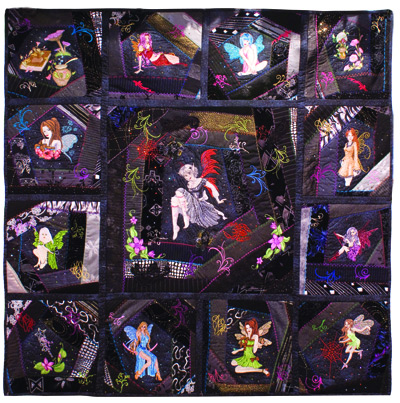 Fairies designs on  blanket embroidered
