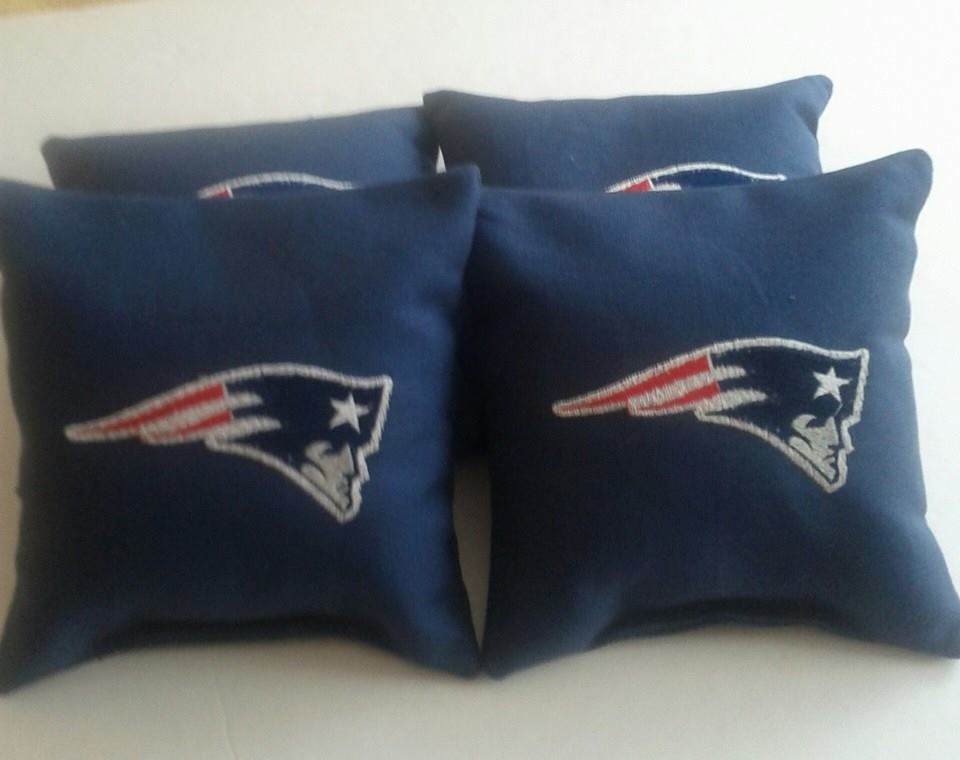 New England Patriots logo on pillowcase embroidered