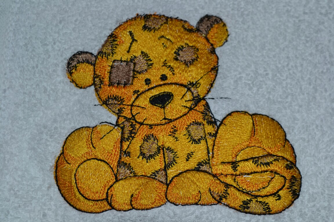 Embroidered Leo the leopard design