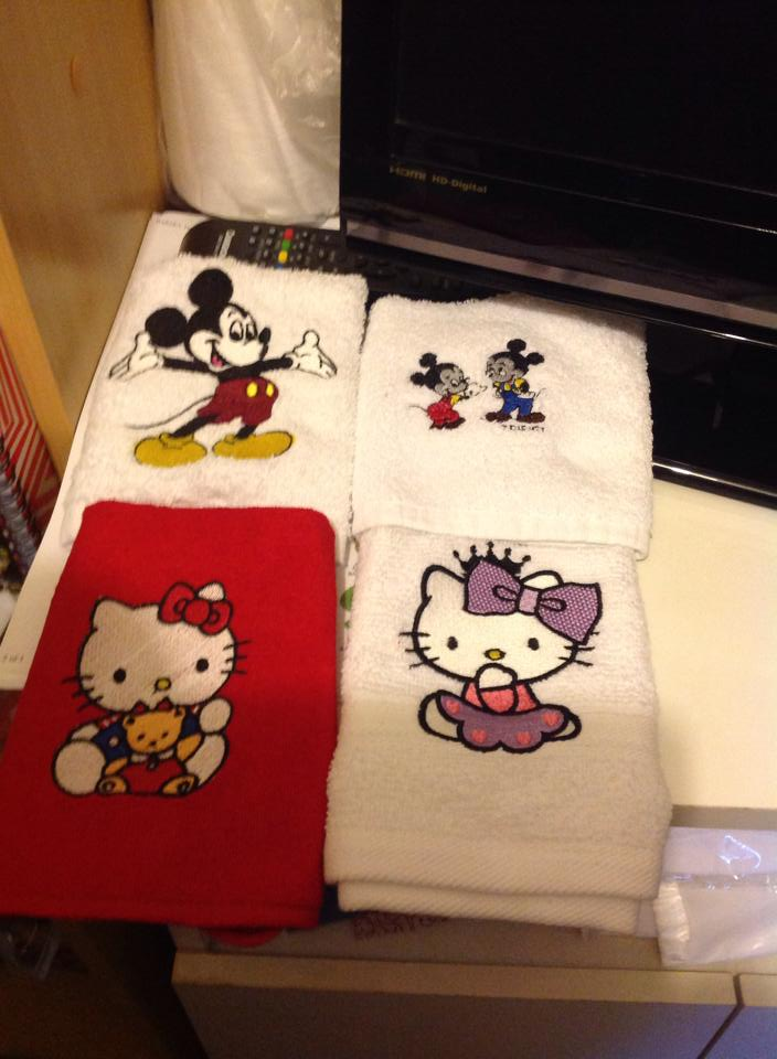 Hello Kitty designs on towels1
