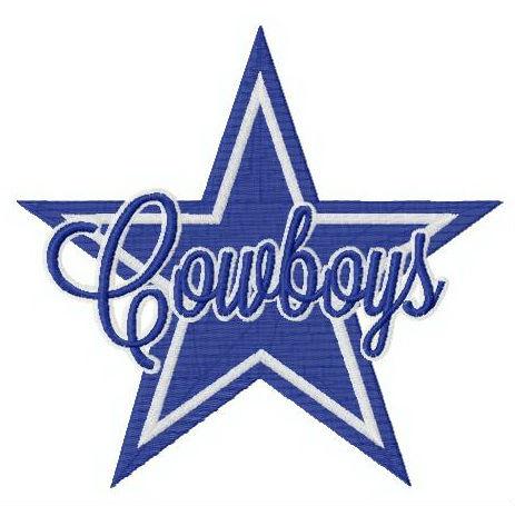 Cowboys Star Logo Embroidery Design