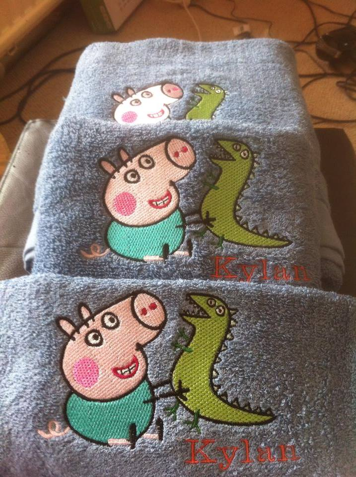 Peppa Pig with Caterpillar design on towel1