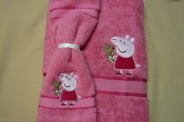 Peppa Pig with Toy design on towel1