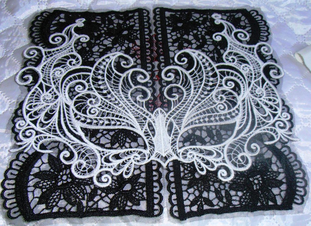 mask lace embroidery design