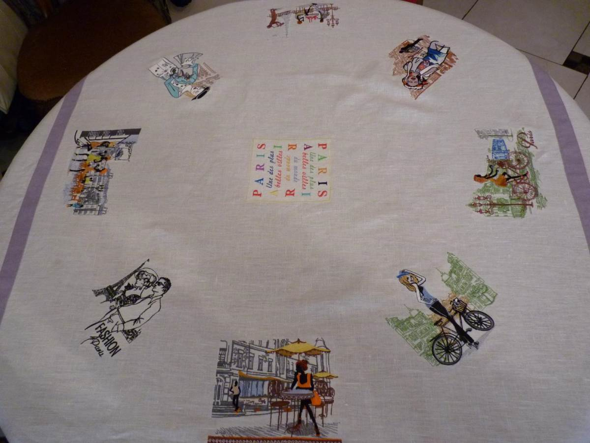 tablecloth with cities travel embroidery designs