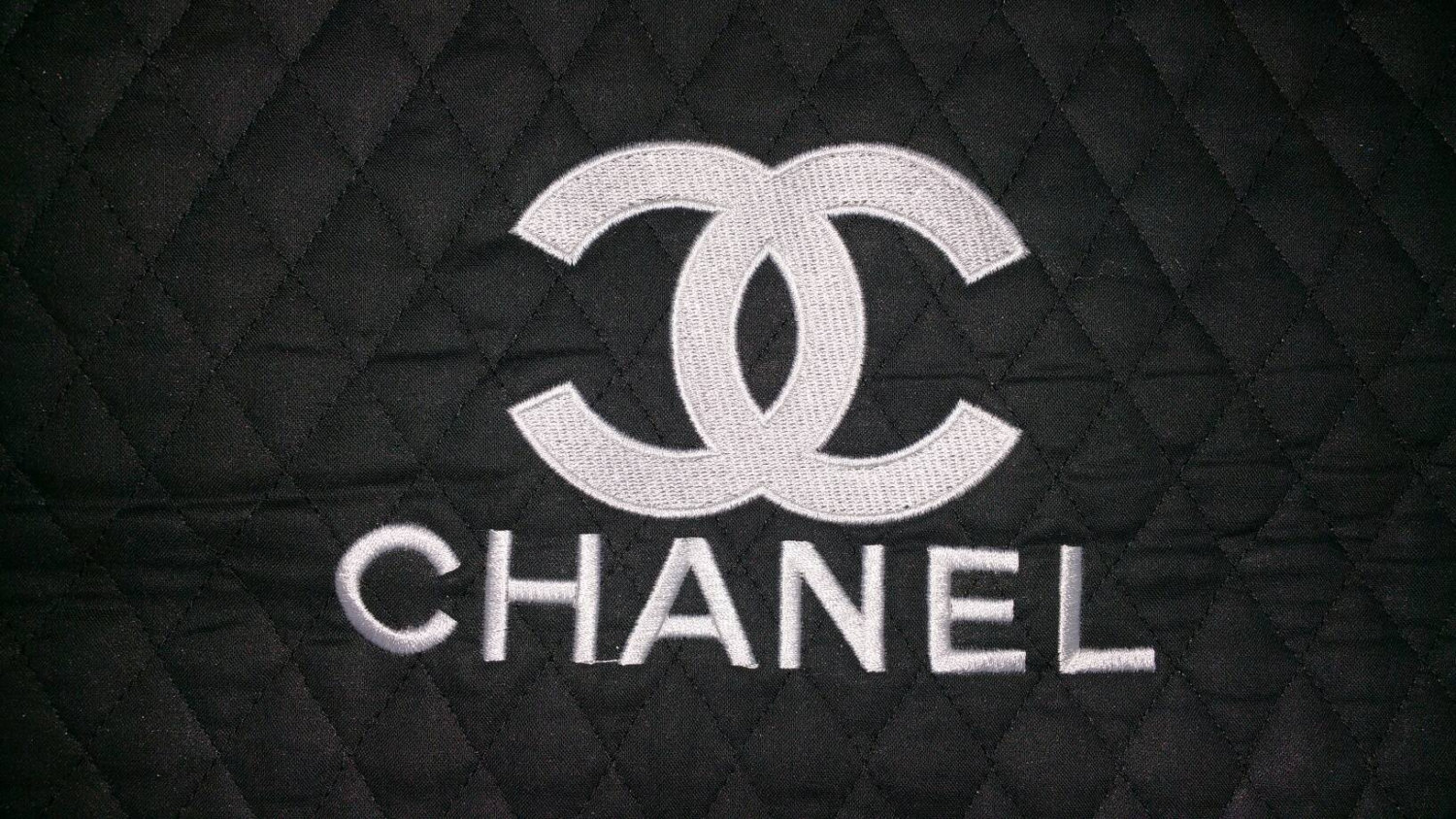 Сhanel logo design embroidered