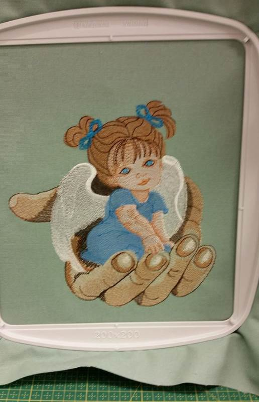 in hoop angel palm embroidery design