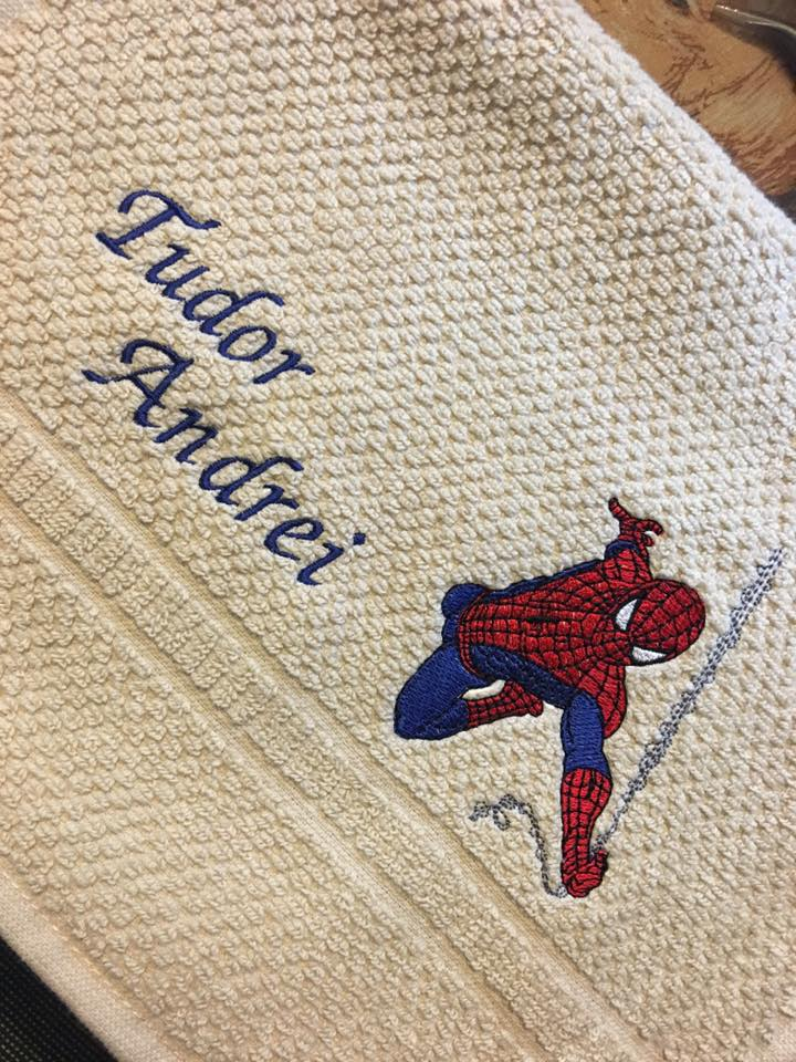 Spider-man embroidery design