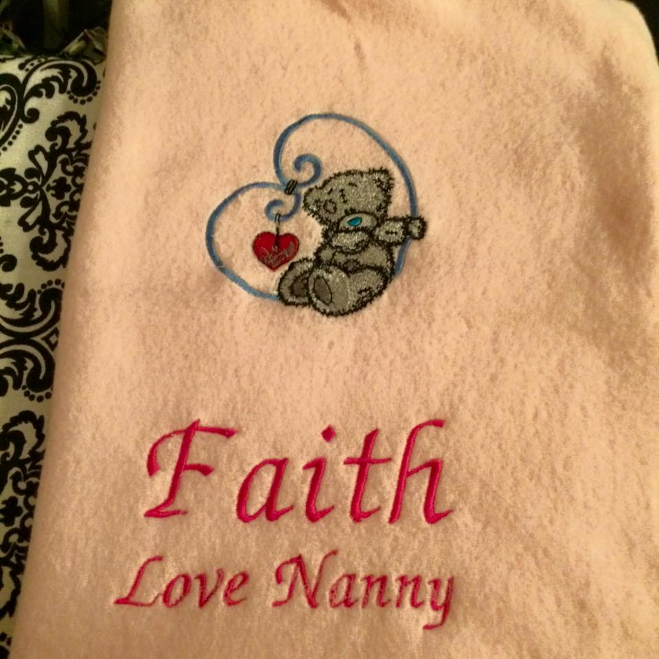 Tatty teddy embroidered on bath towel