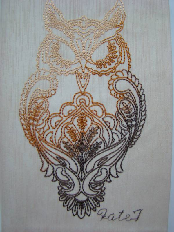 Owl embroidered design