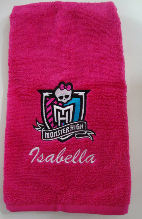 Embroidered towel with Monster High logo