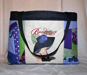 French coquette embroidered on bag