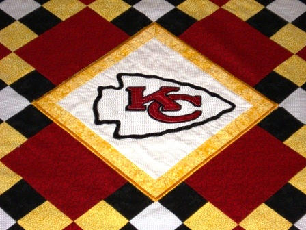 Carpet Kansas City Chiefs logo machine embroidery design