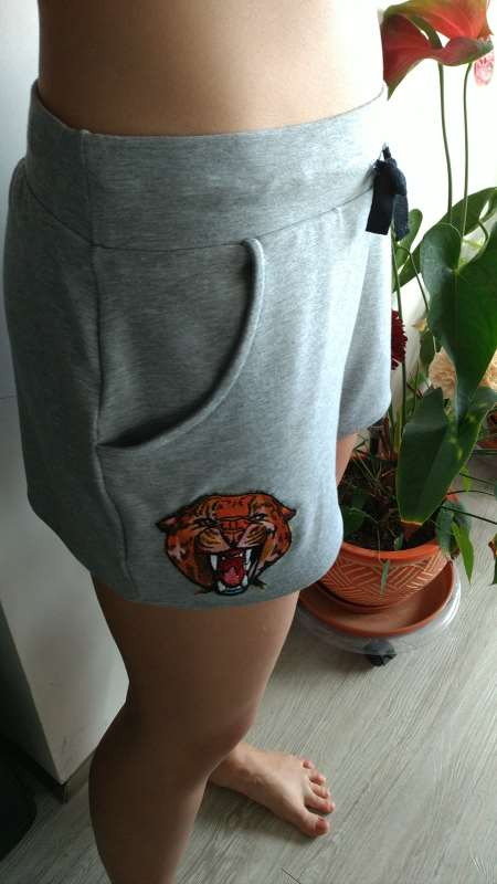Sportwear with Wild Cheetah embroidery design