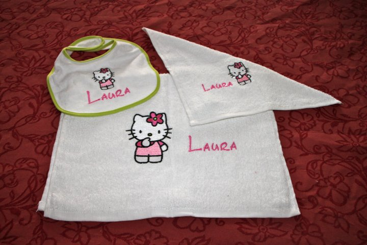 Hello Kitty I think design embroidered