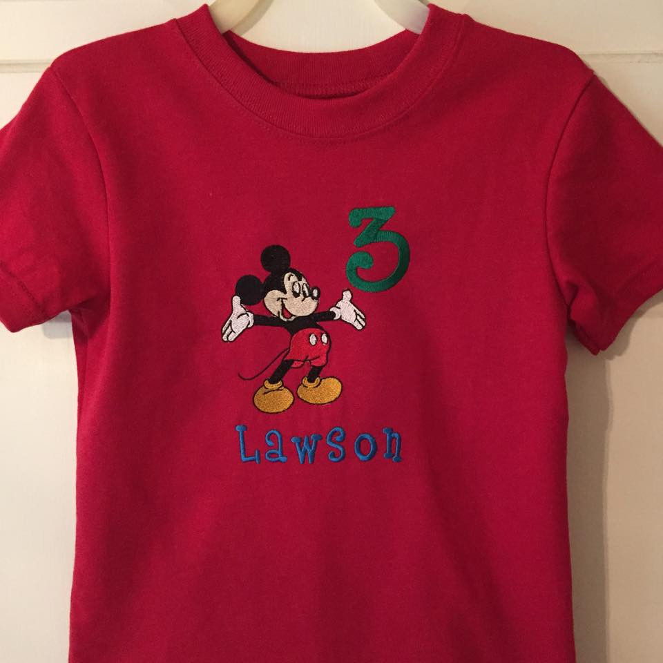 Mickey Mouse Welcome design on t-shirt1