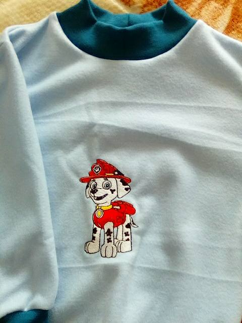 Shirt with Marshall embroidery design