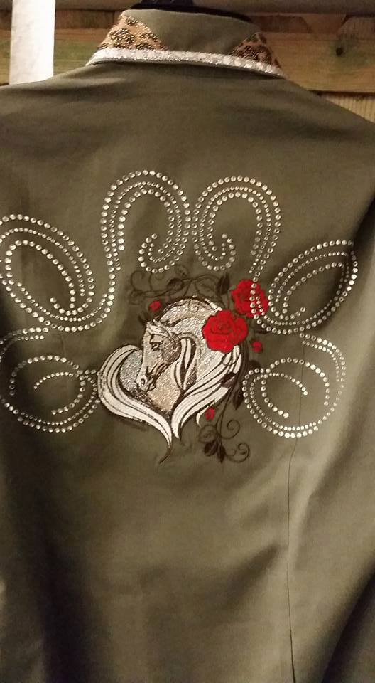 Fashion jacket with Horse embroidery design