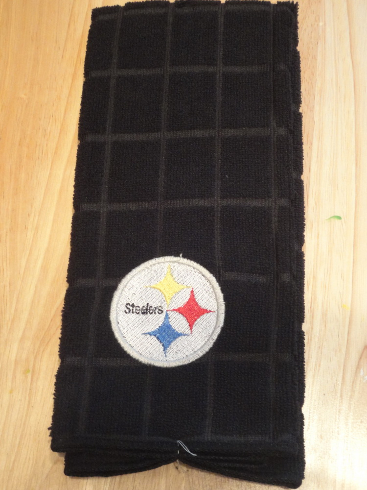 Pittsburgh Steelers logo embroidery design on towel